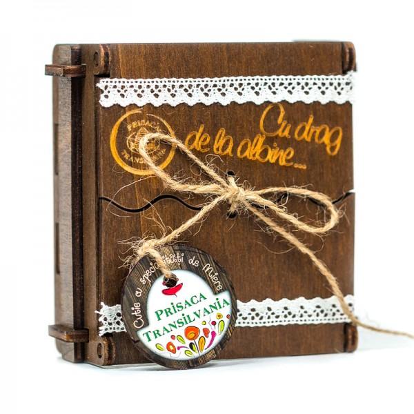 Cutie Traditionala lemn - 4 specialitati miere