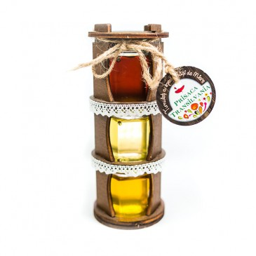 Turnulet Traditional lemn - 3 specialitati miere